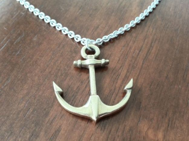 Anchor of Hope  3d printed Anchor of Hope brronze, chain not included
