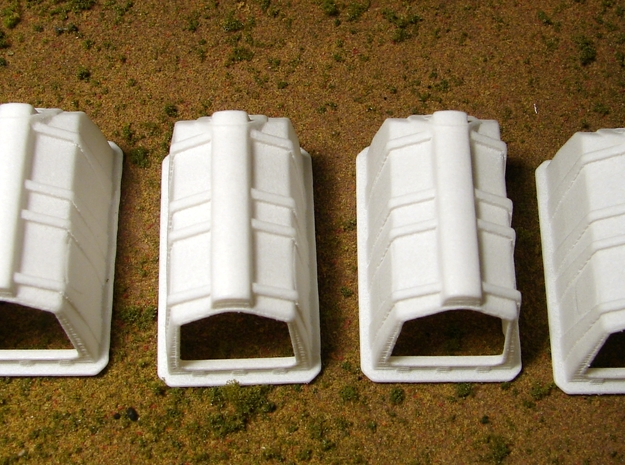 """1/64th """"S"""" Scale Calf Hutch set of Six 3d printed Picture of four is for reference only, this is for a set of 6."""