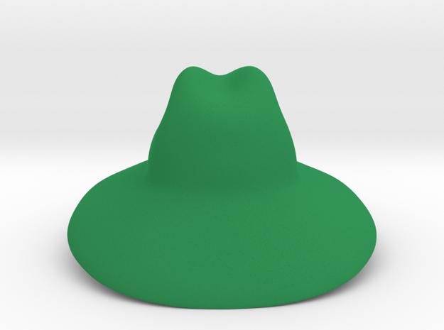 Sun Hat in Green Processed Versatile Plastic