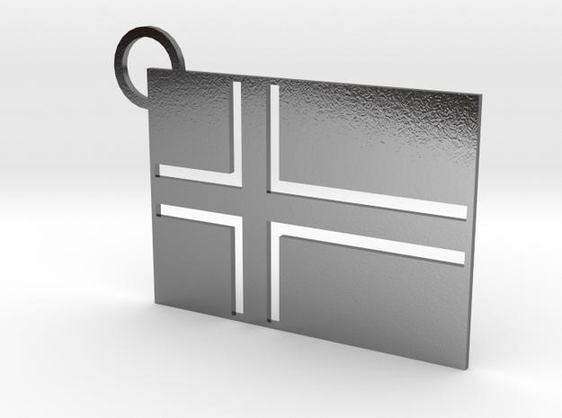 Icelandic Flag Keychain