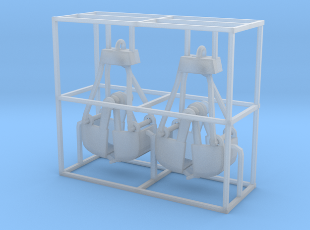 Clamshell bucket small Z scale