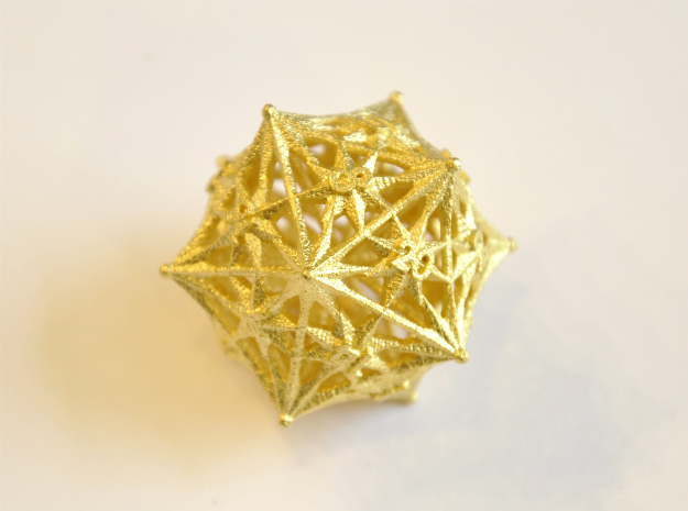 D20 Balanced - Radiant in Polished Bronzed Silver Steel