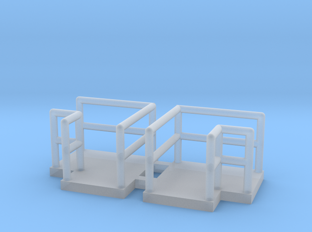 N Scale Walkway L (Long) 2pc in Smooth Fine Detail Plastic