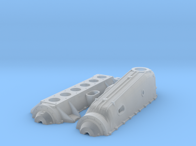 Mercedes D.IIIa Crankcase (Refactored) in Smoothest Fine Detail Plastic