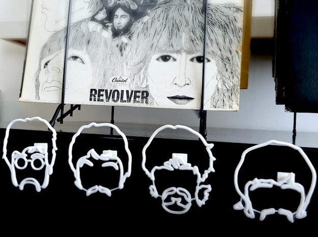 The Beatles: Wire Wall Art (Large) in White Natural Versatile Plastic