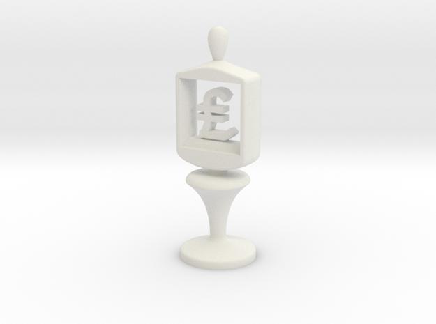 Currency symbol figurine,Pound in White Natural Versatile Plastic