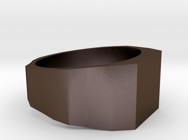 bjargsize10_S3 in Polished Bronze Steel