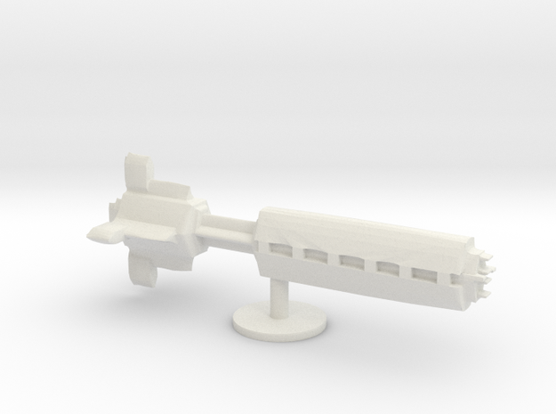 star ship battleship board game piece  in White Natural Versatile Plastic