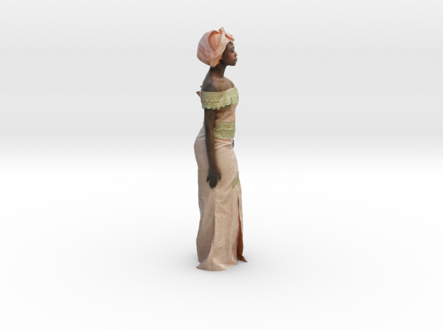 African Woman - Colorful Sculpture in Full Color Sandstone: Small