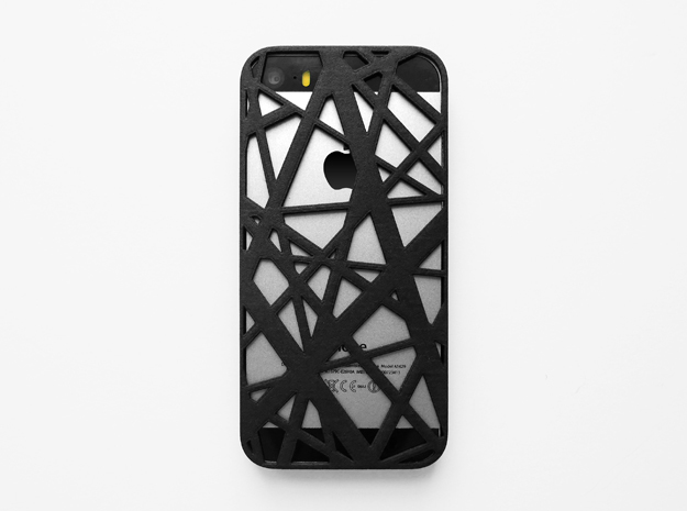 iPhone SE/5S case_Intersection in Black Natural Versatile Plastic