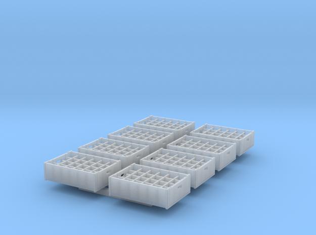 1:48 24  bottle crate V2 - 8ea in Smooth Fine Detail Plastic