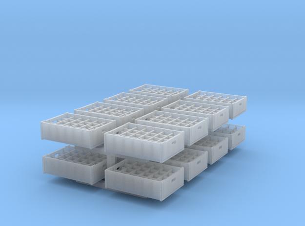 1:48 24  bottle crate V2 - 16ea in Smooth Fine Detail Plastic