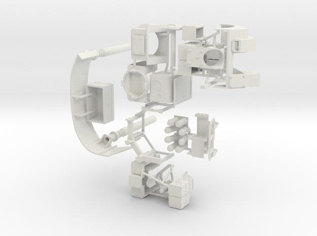 1:18 BUSK III TURRET KIT 040418 in White Natural Versatile Plastic