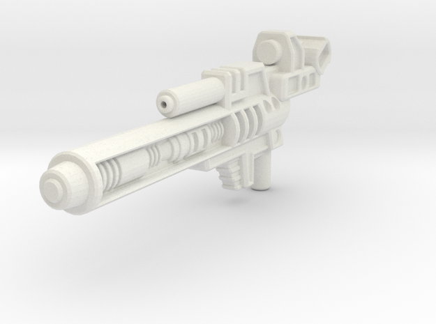 Blaster for Legion TFP Hun-Gurr in White Natural Versatile Plastic