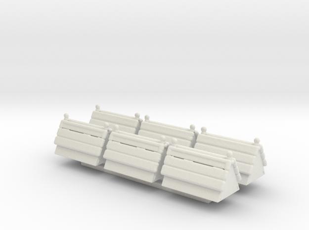 Traffic Blockers Sprue in White Natural Versatile Plastic