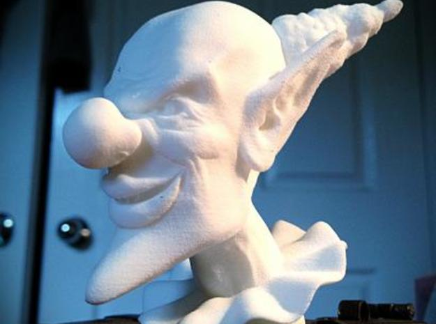 Evil Clown Hollow 3d printed White, Strong and Flexible