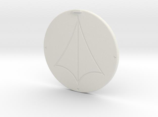Base UEDF ø50 in White Natural Versatile Plastic