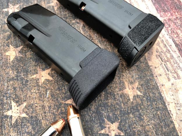 SIG P365 - Full Grip Base Pad in Black Natural Versatile Plastic