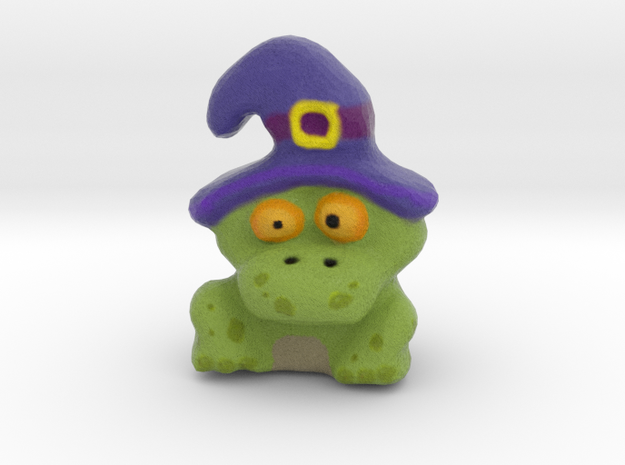 Witch-Toad Figurine in Full Color Sandstone