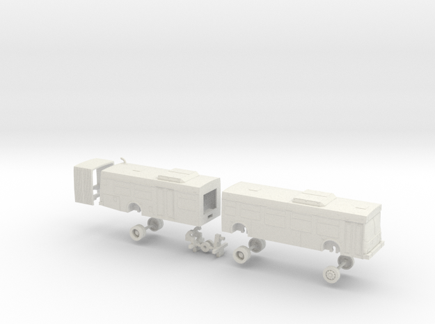 HO Scale Bus New Flyer D60LF OCTA 7400s in White Natural Versatile Plastic
