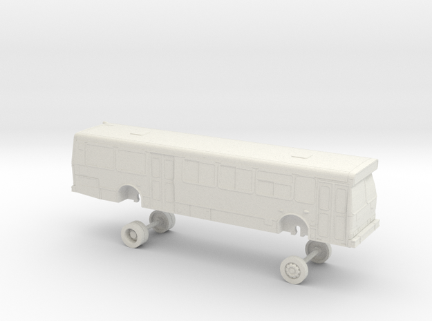 HO Scale Bus Orion V GGT 1500s in White Natural Versatile Plastic