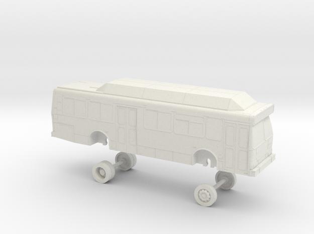 HO Scale Bus Orion V 35' Yolobus 705-707 in White Natural Versatile Plastic