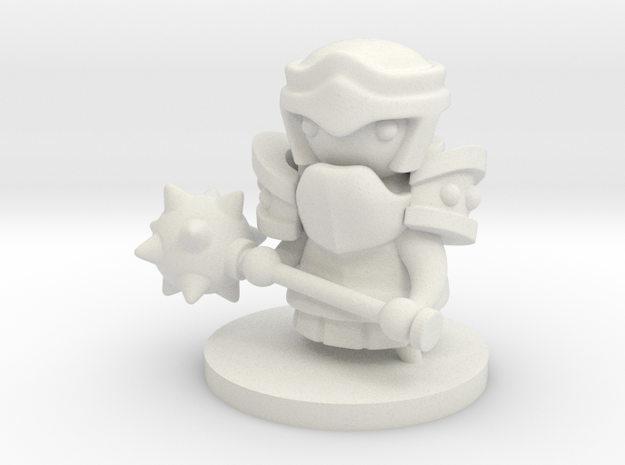 Heavy Mauler in White Natural Versatile Plastic