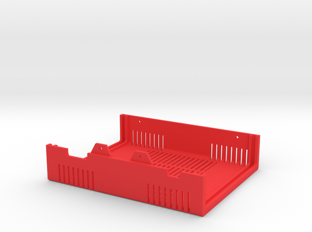 MiSTer Case Universal v5.2 Top Shell (1/4) (nB) in Red Processed Versatile Plastic