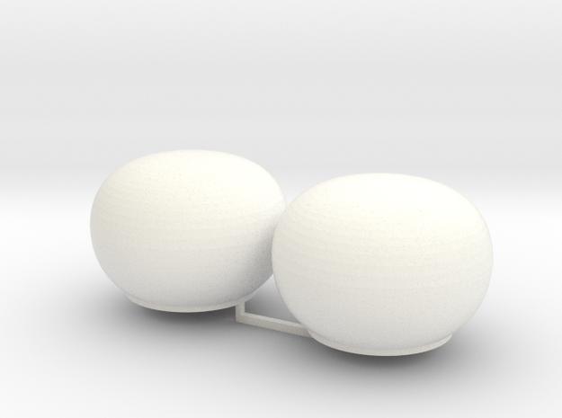 2x Satcom dome 1/72 in White Processed Versatile Plastic