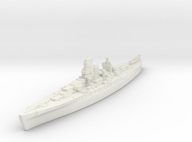 Design 1933 Battlecruiser (Italy) in White Natural Versatile Plastic