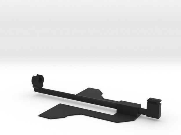 Rubber band Powered Paper Plane Body Mount in Black Premium Versatile Plastic: Extra Small