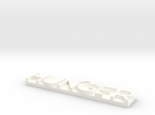HUNGER in White Processed Versatile Plastic