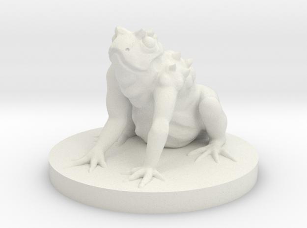 Giant Frog Monster in White Natural Versatile Plastic