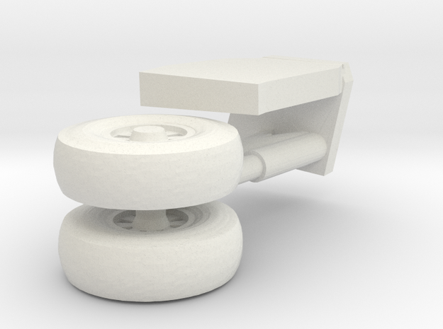 14-GIVSP-144scale-PortsideLandingGear-Extended in White Natural Versatile Plastic
