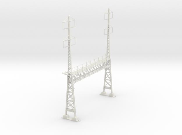 PRR CATENARY HO SCALE ANCHOR & SIGNAL BRIDGE 2-2 P in White Natural Versatile Plastic