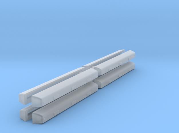 Atlas U23B to U36B Flared Radiator kit N scale 4 p in Smooth Fine Detail Plastic