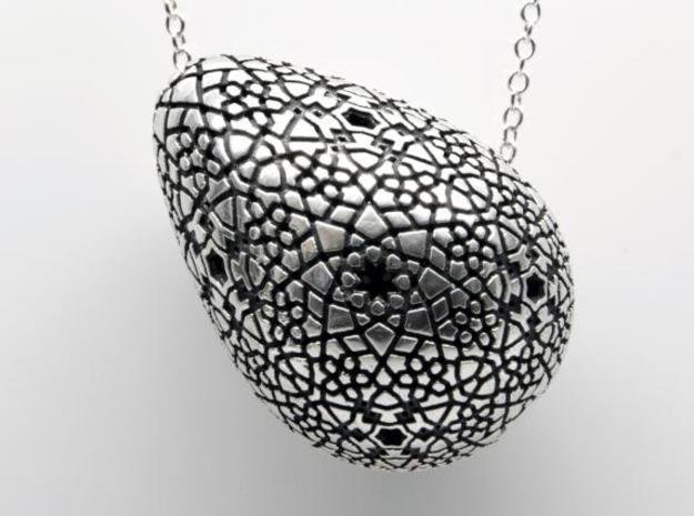 Erasmo Pendant Necklace - Silver in Polished Silver