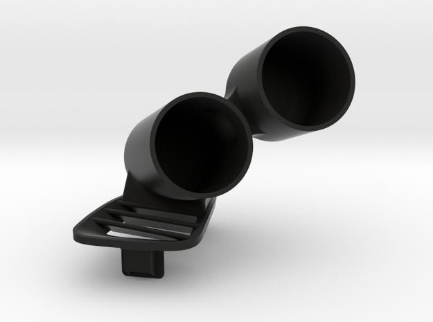 DUAL POD VENT MS6 in Black Natural Versatile Plastic