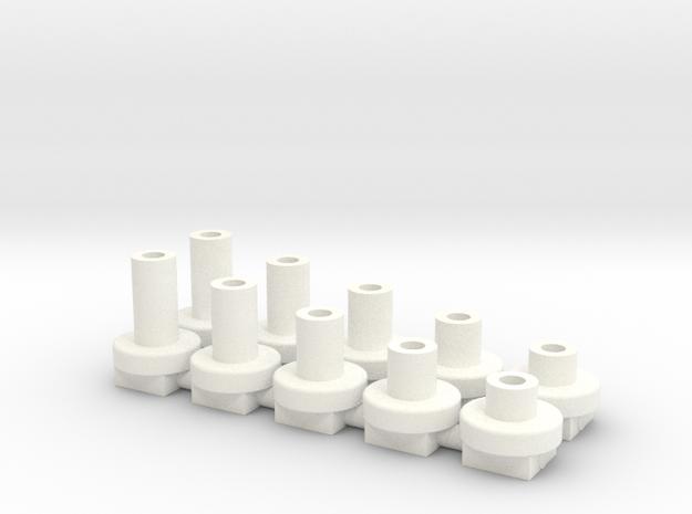 topes de H de 2 a 6mm in White Processed Versatile Plastic