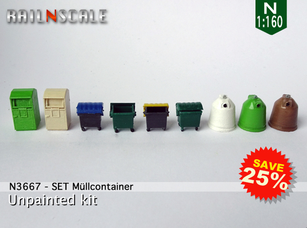 SET M眉llcontainer (N 1:160) in Smooth Fine Detail Plastic