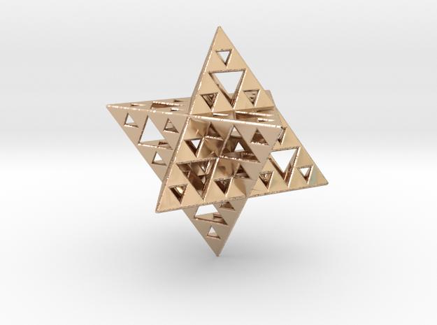 Sierpinski Merkaba IV level 3 1.5 cm (downloadable