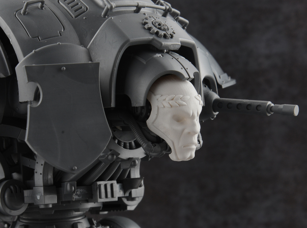 Blood Guardian - Death Mask in Smooth Fine Detail Plastic