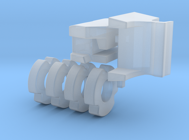 1/64 Blue Tractor weights in Smooth Fine Detail Plastic