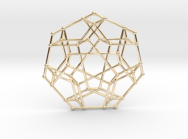 Associahedron Pendant in 14k Gold Plated Brass
