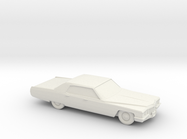 1/72 1972 Cadillac De Ville Sedan in White Natural Versatile Plastic