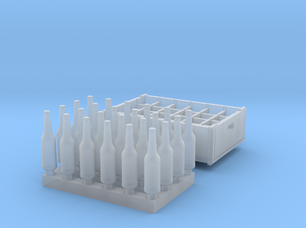 O  scale - 24 bottles, 1 crate in Smoothest Fine Detail Plastic