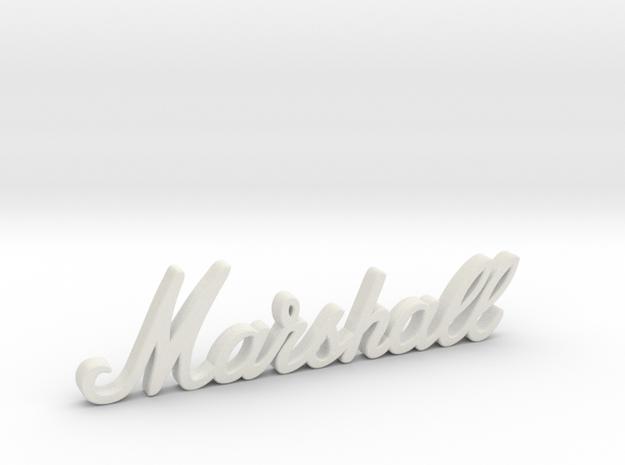 """Marshall Logo - 3.25"""" for Pinball Speaker Panel in White Premium Versatile Plastic"""