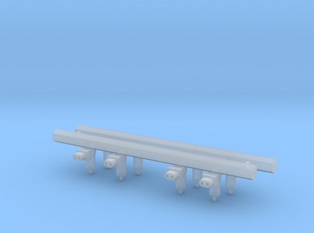 Fuel rails 1/12 only in Smooth Fine Detail Plastic
