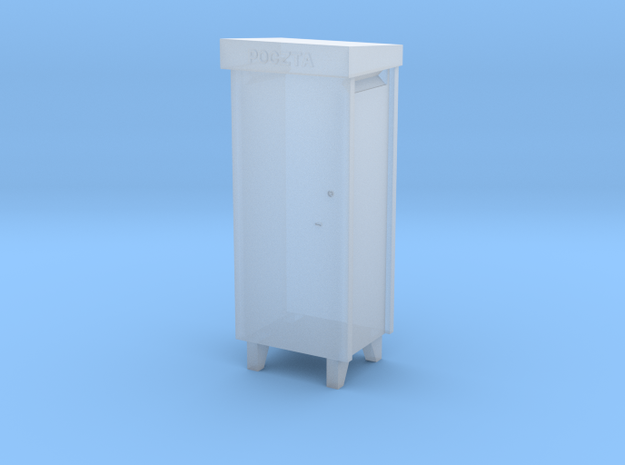 TT- Polish City Type Pillar Letter-Box in Smooth Fine Detail Plastic