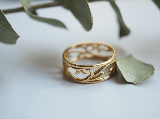 Delicate Ivy Ring in Natural Brass: 5 / 49